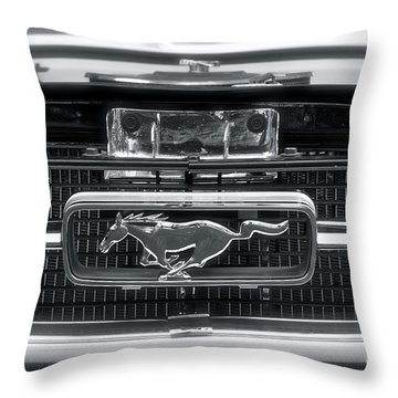 Mustang Throw Pillow by Gwyn Newcombe