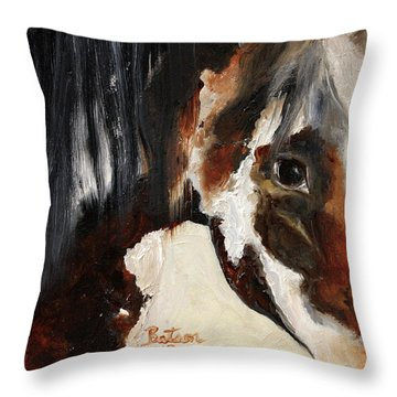Mustang In My Heart Throw Pillow