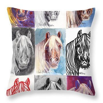 Mustang Mare 1154 Throw Pillow