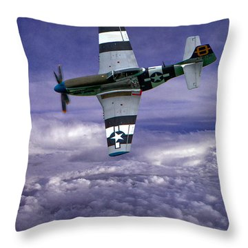 Mustang On Patrol Throw Pillow