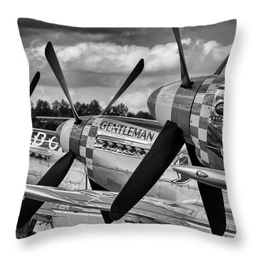 Mustang Row Throw Pillow