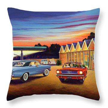 Mustang Sally - Shelton's Diner 2 Throw Pillow