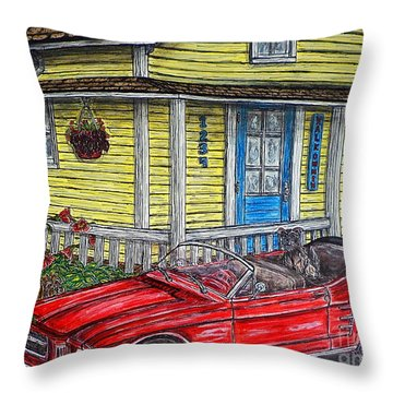 Mustang Sallys' Place Throw Pillow