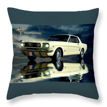 Mustang Throw Pillow by Steven Agius