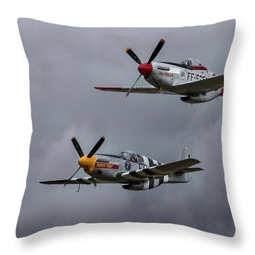 Mustangs Throw Pillow by Elvira Butler