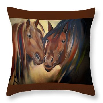 Mustangs Throw Pillow