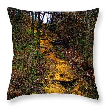 Mustard Hill Throw Pillow