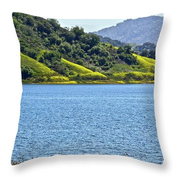Mustard Patches Throw Pillow
