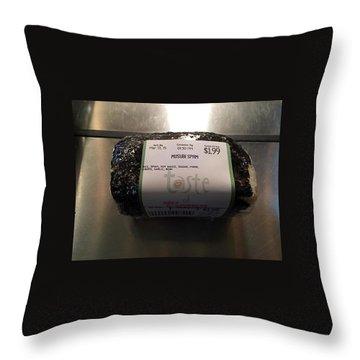 Throw Pillow featuring the photograph Musubi Spam by Brenda Pressnall