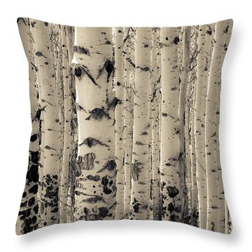 Muted Aspens Throw Pillow by The Forests Edge Photography - Diane Sandoval