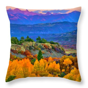 Muted Sunset Colors Of Autumn Throw Pillow