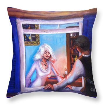 Intimate Conversation Throw Pillow