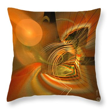 Throw Pillow featuring the digital art Mutual Respect - Abstract Art by Sipo Liimatainen