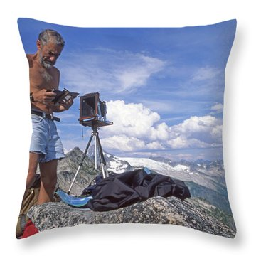 Throw Pillow featuring the photograph Mxx133 Ed Cooper On Hidden Lakes Peaks Wa by Ed Cooper Photography