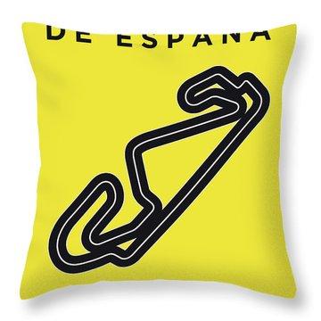 My 2017 Gran Premio De Espana Minimal Poster Throw Pillow