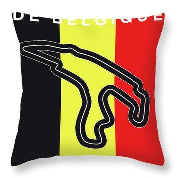 My 2017 Grand Prix De Belgique Minimal Poster Throw Pillow