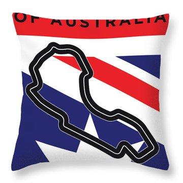 My 2017 Grand Prix Of Australia Minimal Poster Throw Pillow