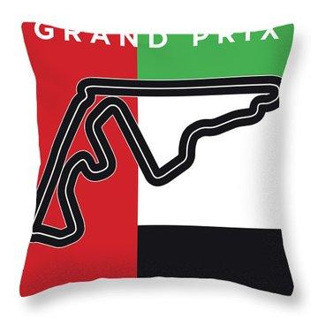 My Abu Dhabi Grand Prix Minimal Poster Throw Pillow