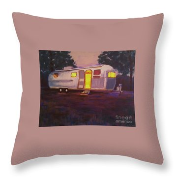 Throw Pillow featuring the painting My Airstream Dream II by Suzanne McKay