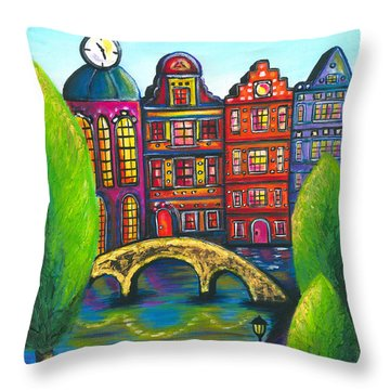 My Amsterdam Throw Pillow by Beryllium Canvas
