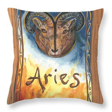 My Aries Throw Pillow