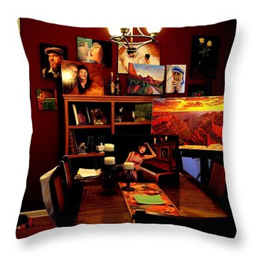 My Artwork At Home Throw Pillow