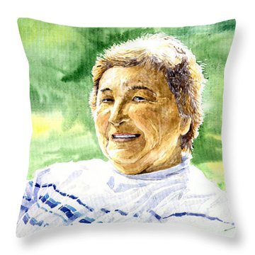 My Aunt Rose Throw Pillow by Yuriy  Shevchuk