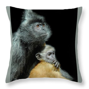 Throw Pillow featuring the photograph My Baby by Howard Bagley