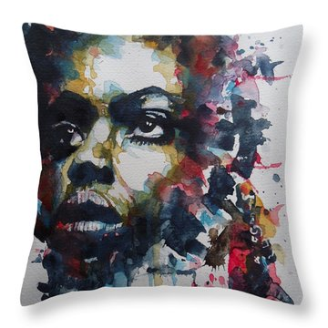 Throw Pillow featuring the painting My Baby Just Cares For Me  by Paul Lovering