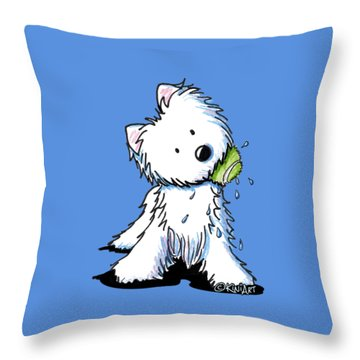 My Ball My Rules Throw Pillow
