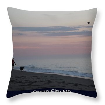 My Best Friend And The Beach Throw Pillow