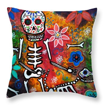 My Bestfriend Throw Pillow by Pristine Cartera Turkus