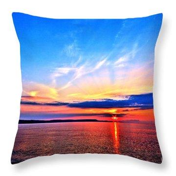 My Blue Heaven Throw Pillow by Baggieoldboy