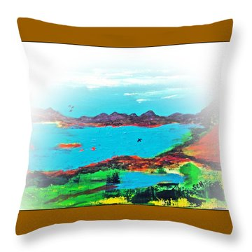 My Blue Heaven Number Three Throw Pillow by Scott Haley