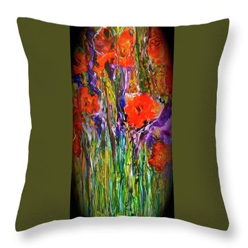My Bouquet Throw Pillow by Gail Butters Cohen