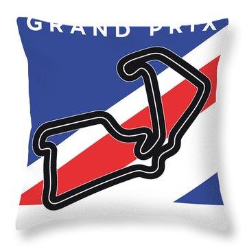 My British Grand Prix Minimal Poster Throw Pillow
