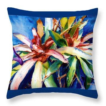 My Bromelias Throw Pillow by Estela Robles