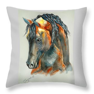My Brother In Copper Throw Pillow