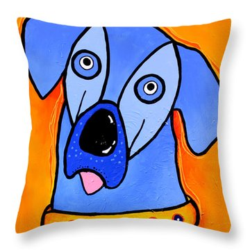 My Brother Is Blue Too Throw Pillow by Tim Ross