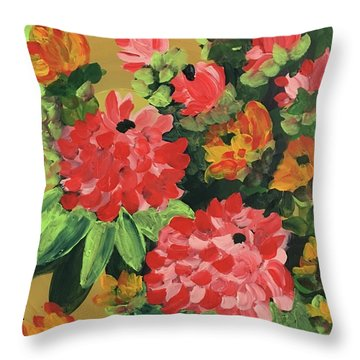 My Brush Sings In The Garden Throw Pillow
