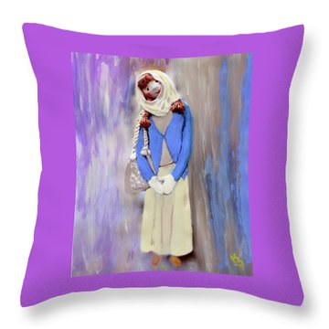 Throw Pillow featuring the painting My Bubba by Deborah Boyd