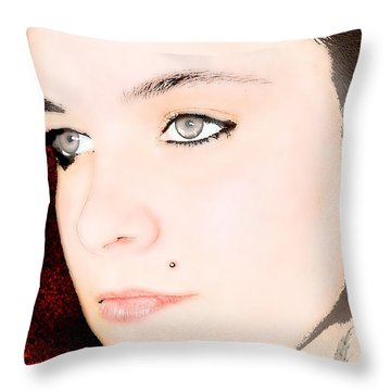 My Butterfly Throw Pillow by Tbone Oliver