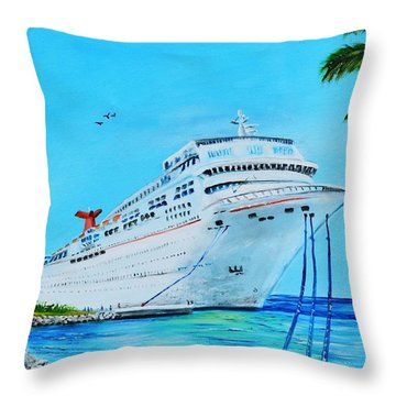 My Carnival Cruise Throw Pillow
