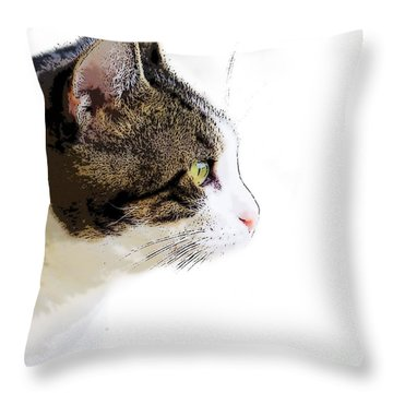 My Cat Throw Pillow by Craig Walters