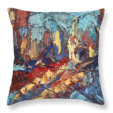 My City Throw Pillow by NatikArt Creations