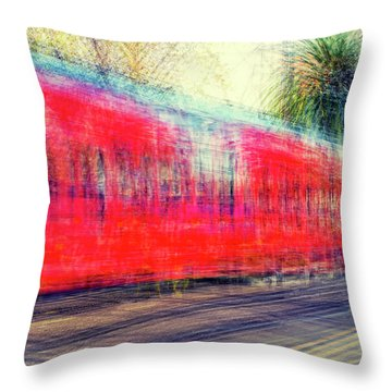 My City's Got A Trolley Throw Pillow by Joseph S Giacalone