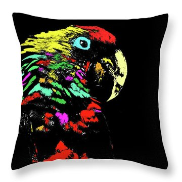 Throw Pillow featuring the photograph My Colorful Mccaw by Howard Bagley
