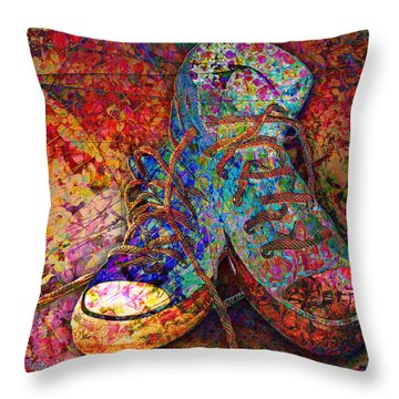 My Cool Sneakers Throw Pillow