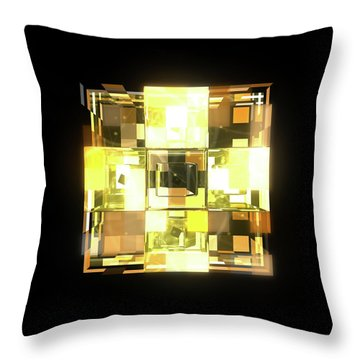 My Cubed Mind - Frame 001 Throw Pillow