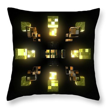 My Cubed Mind - Frame 100 Throw Pillow
